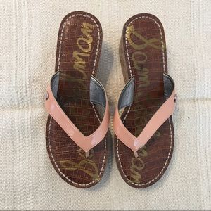 Sam Edelman | Peachy Pink Wedged Sandals Sz 7.5